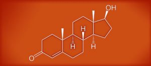 The chemical makeup of testosterone. CC image courtesy of Eduardo García Cruz on Flickr.
