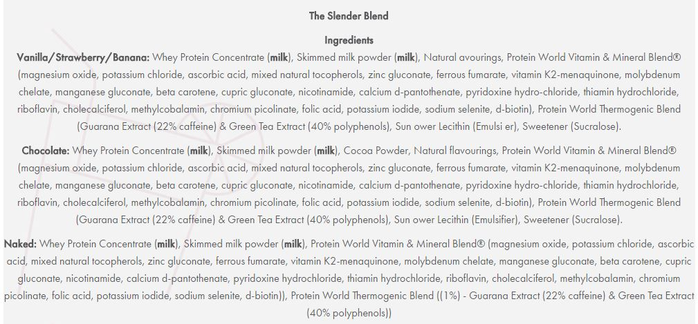 slender-blend-review-ingredients