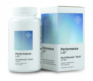 Bottle of Performance Lab NutriGenesis Multi for Men